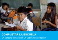 Finishing School  – A Right for Children's Development: A Joint Effort  – Executive Summary (Spanish)
