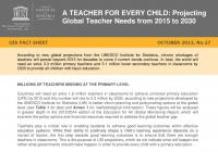 A Teacher for Every Child: Projecting Global Teacher Needs from 2015 to 2030