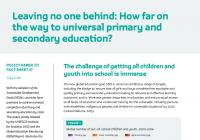 Leaving No One Behind: How Far on the Way to Universal Primary and Secondary Education?