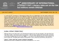 50th Anniversary of International Literacy Day: Literacy Rates Are on the Rise but Millions Remain Illiterate