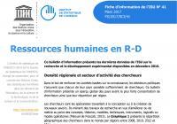 Ressources humaines en R-D – 2017