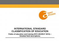 International Standard Classification of Education: Fields of Education and Training 2013 (ISCED-F 2013) – Detailed Field Descriptions