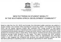 New Patterns in Student Mobility in Southern Africa Development Community