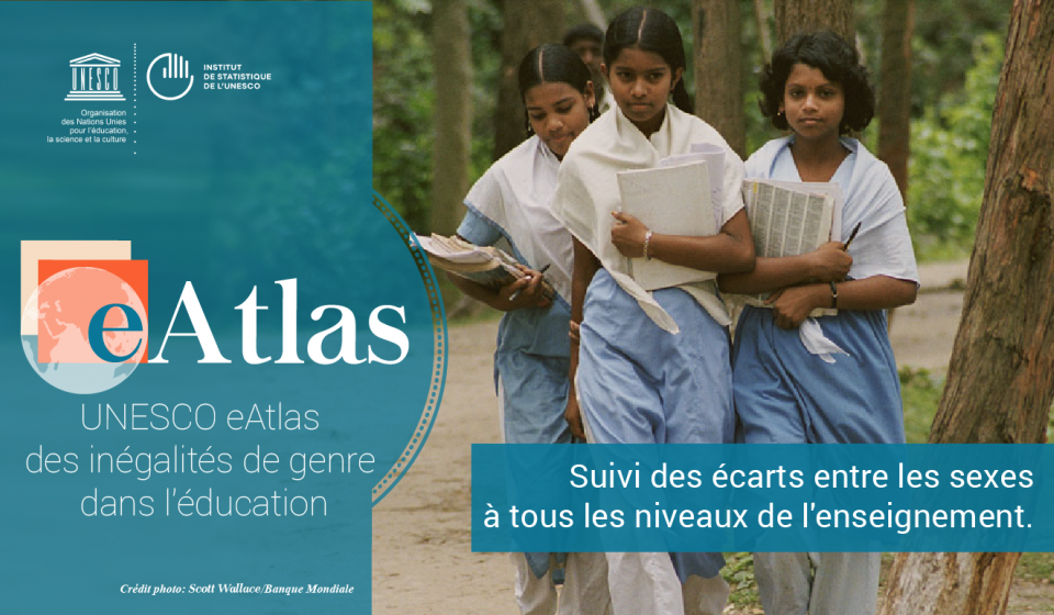 eAtlas de l'UNESCO des inégalités entre les sexes dans l'éducation